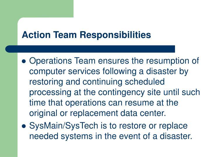 Action Team Responsibilities