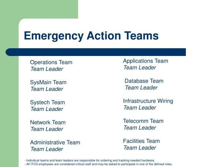 Emergency Action Teams