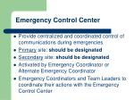 emergency control center