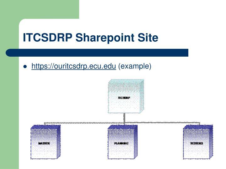 ITCSDRP Sharepoint Site