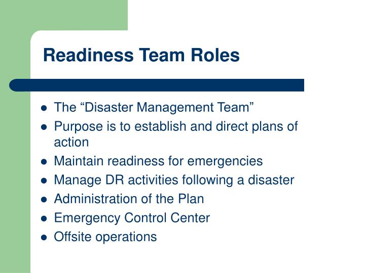 Readiness Team Roles