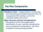 the plan components