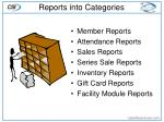 reports into categories