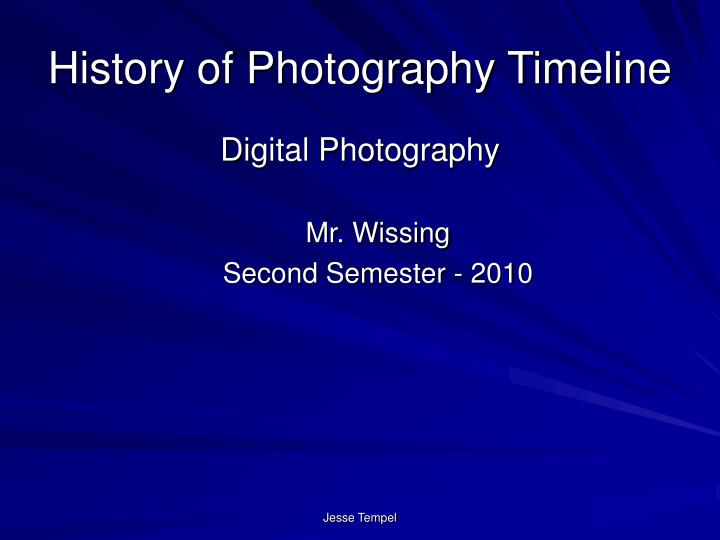 history of photography timeline n.