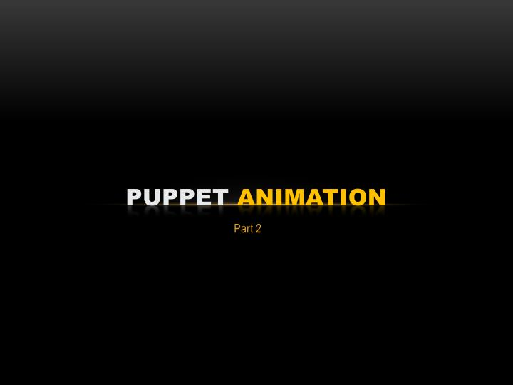 puppet animation n.