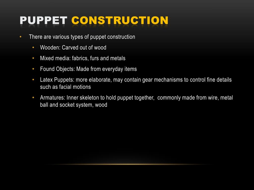 PPT - Puppet Animation PowerPoint Presentation - ID:4976148