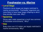 freshwater vs marine