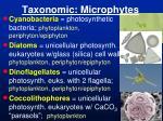 taxonomic microphytes