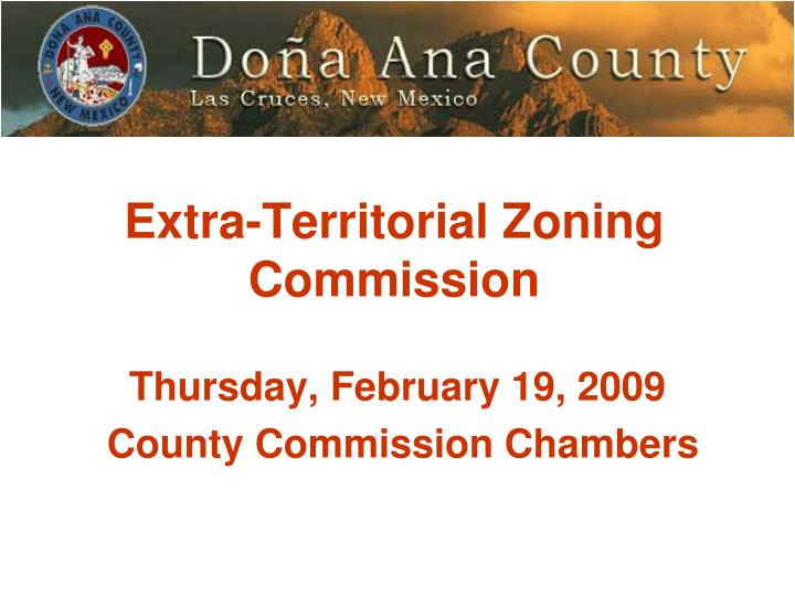 Extra territorial zoning commission