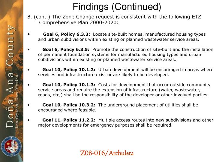 Findings (Continued)