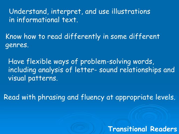 Understand, interpret, and use illustrations in informational text.