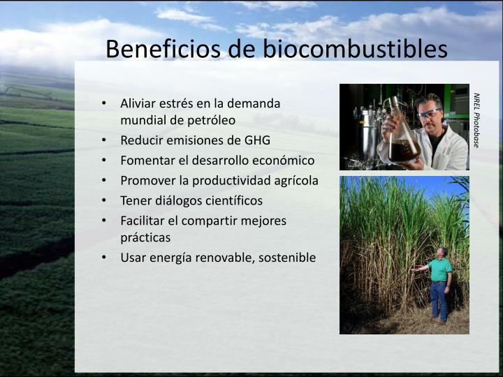 Beneficios de biocombustibles