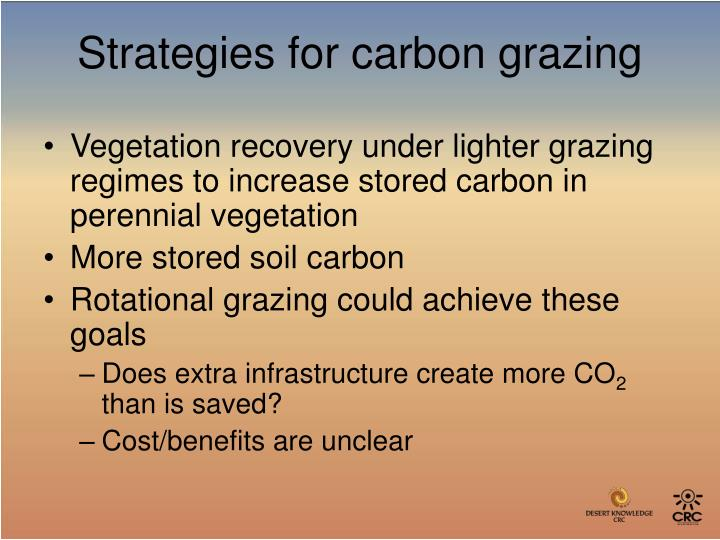 Vegetation recovery under lighter grazing regimes to increase stored carbon in perennial vegetation