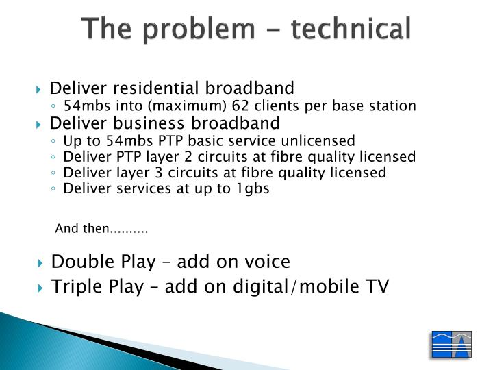 The problem - technical