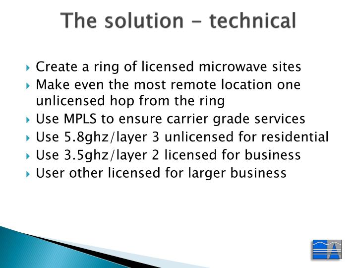 The solution - technical