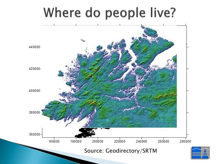Where do people live?