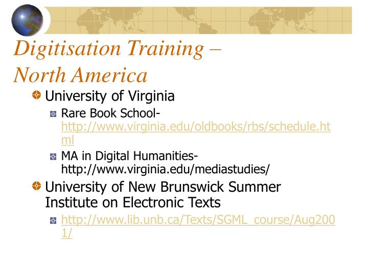 Digitisation Training –