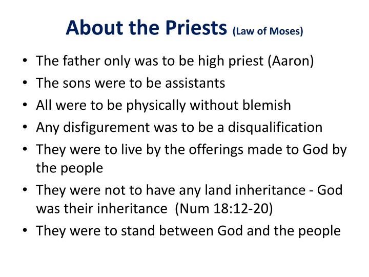 About the Priests
