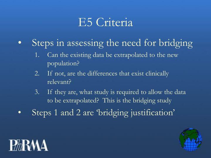 E5 Criteria