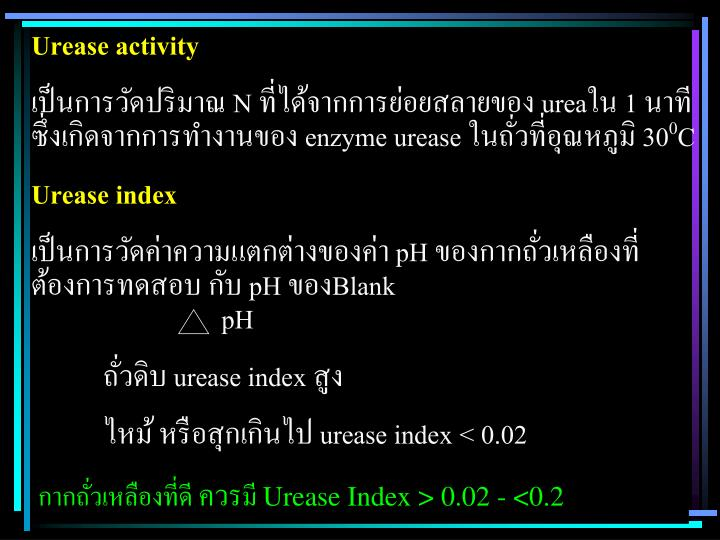 Urease activity