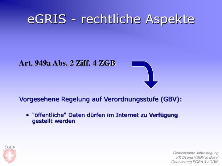 eGRIS - rechtliche Aspekte