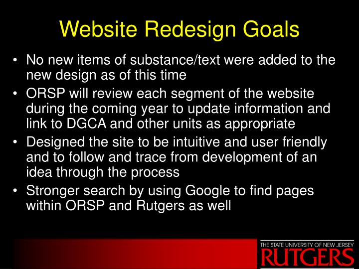 Website Redesign Goals