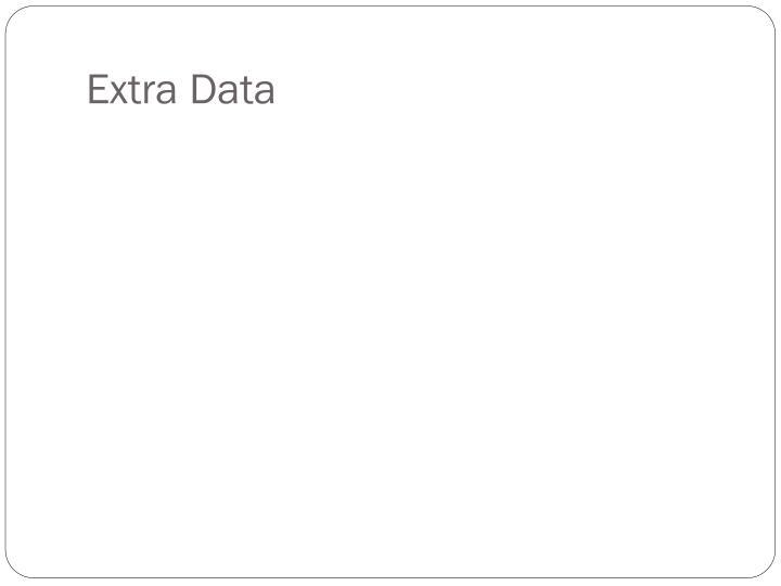 Extra Data
