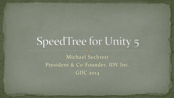 speedtree for unity 5 n.
