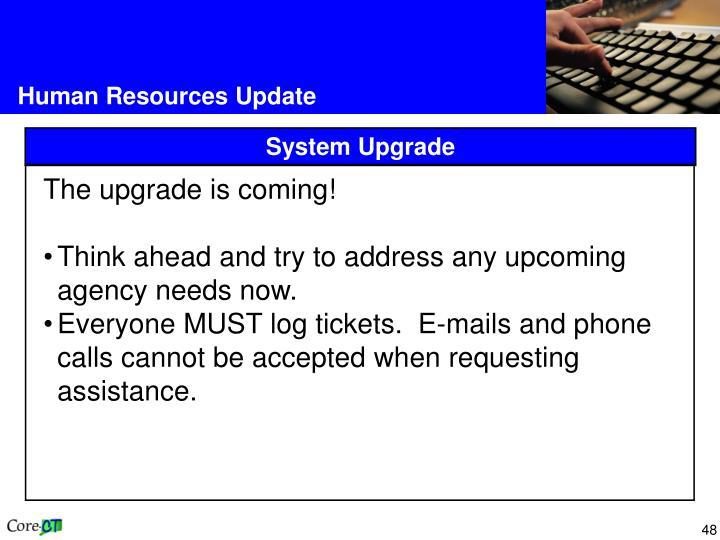 Human Resources Update