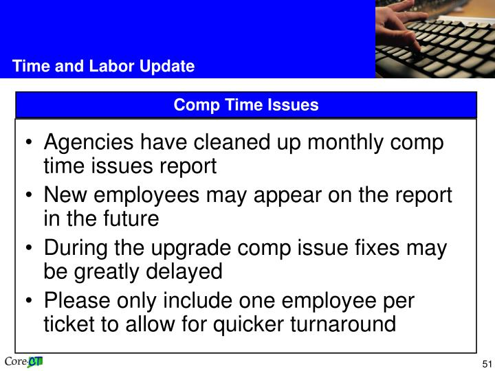 Agencies have cleaned up monthly comp time issues report