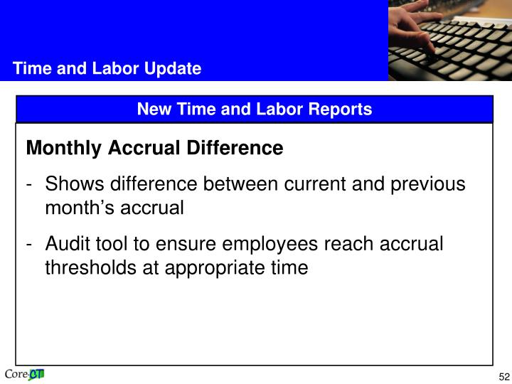 Monthly Accrual Difference