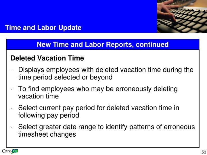 Deleted Vacation Time