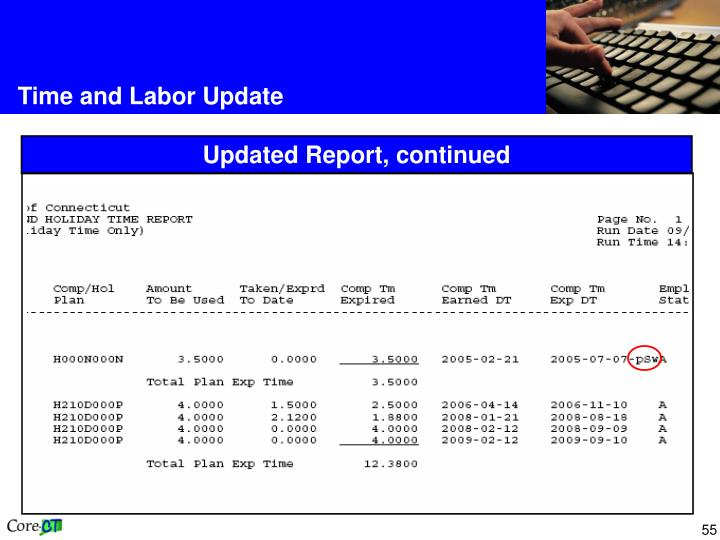 Time and Labor Update