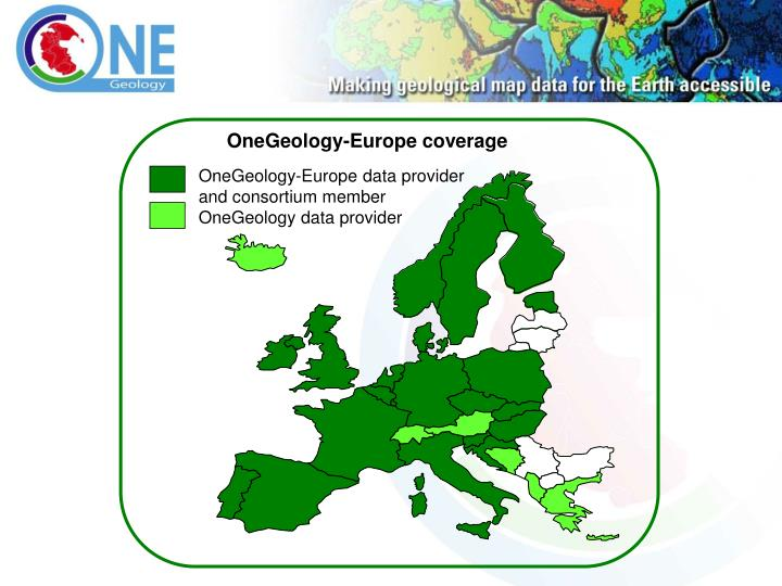 OneGeology-Europe coverage