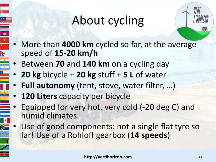 About cycling