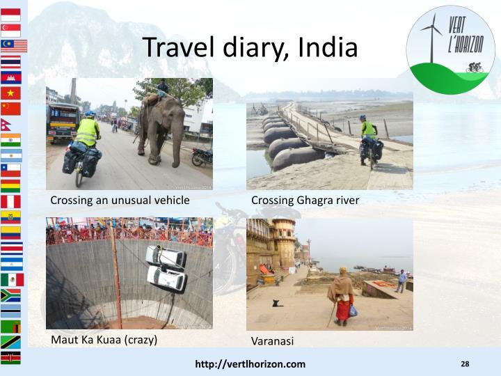 Travel diary, India