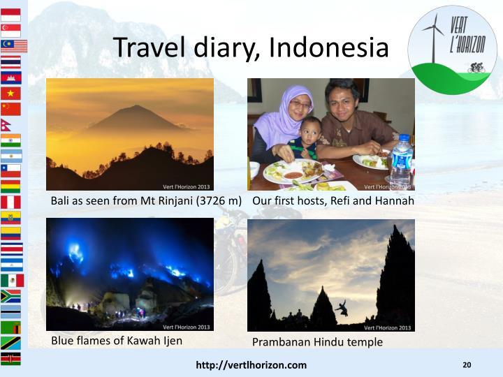 Travel diary, Indonesia
