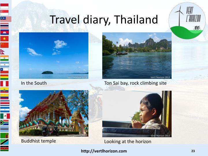 Travel diary, Thailand