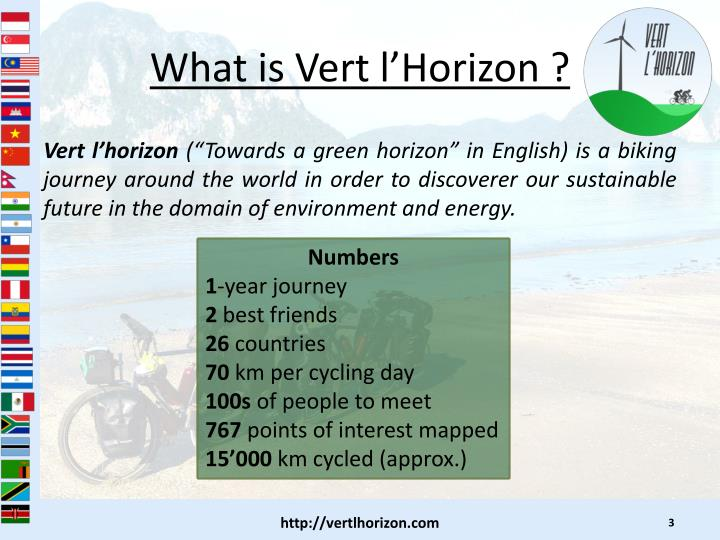 What is vert l horizon