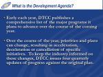 what is the development agenda