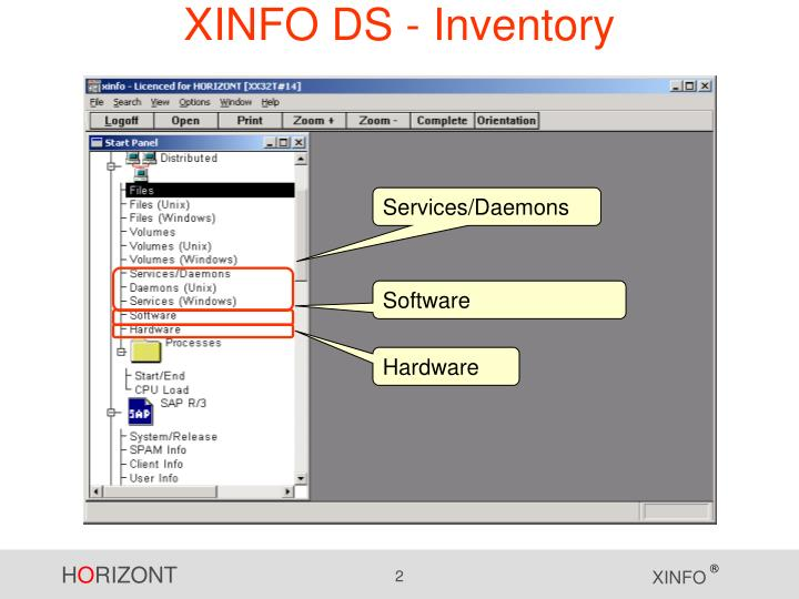 Xinfo ds inventory