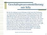 gesch ftsprozessmodellierung mit sisy12