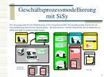 gesch ftsprozessmodellierung mit sisy6