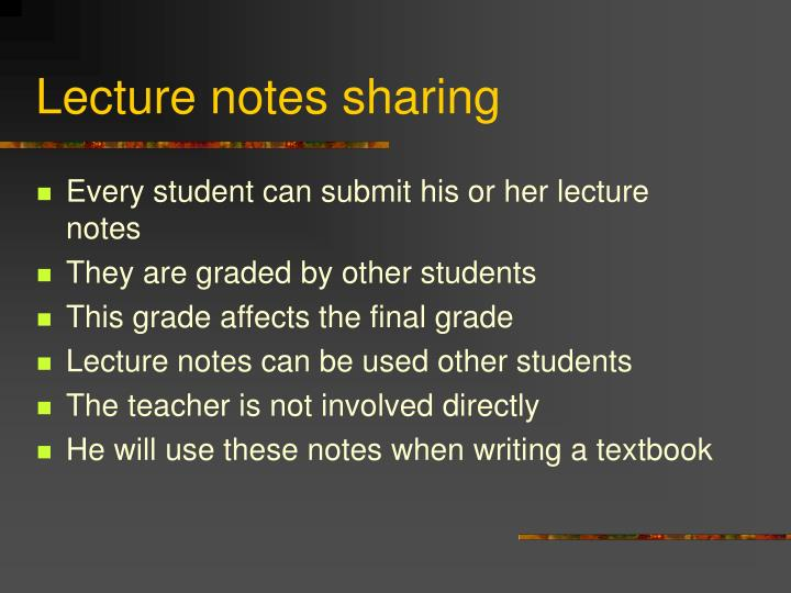 Lecture notes sharing