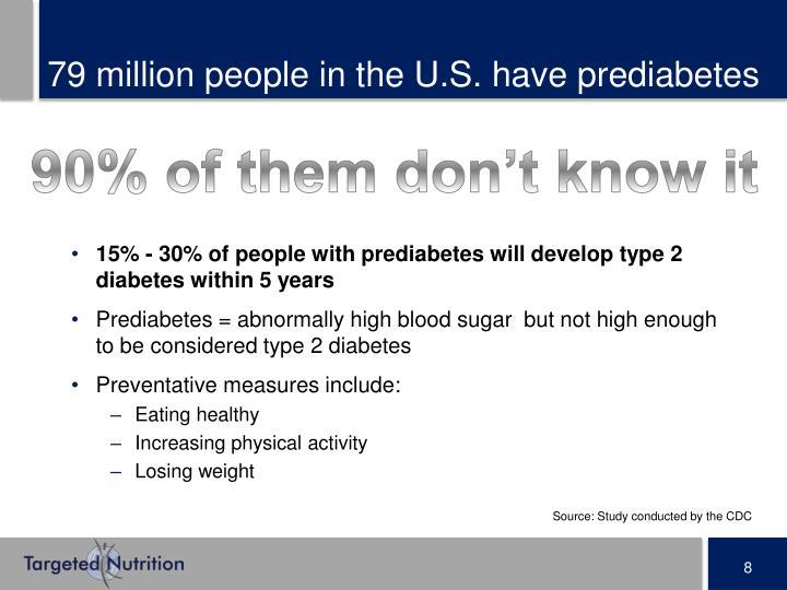 79 million people in the U.S. have prediabetes
