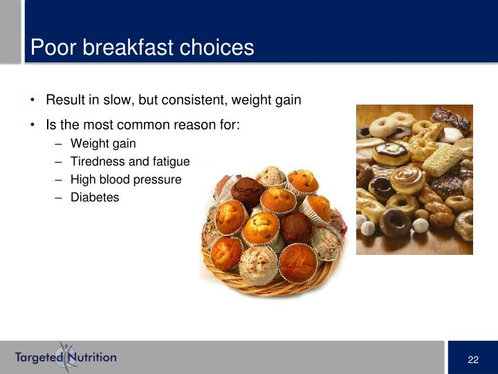 Poor breakfast choices