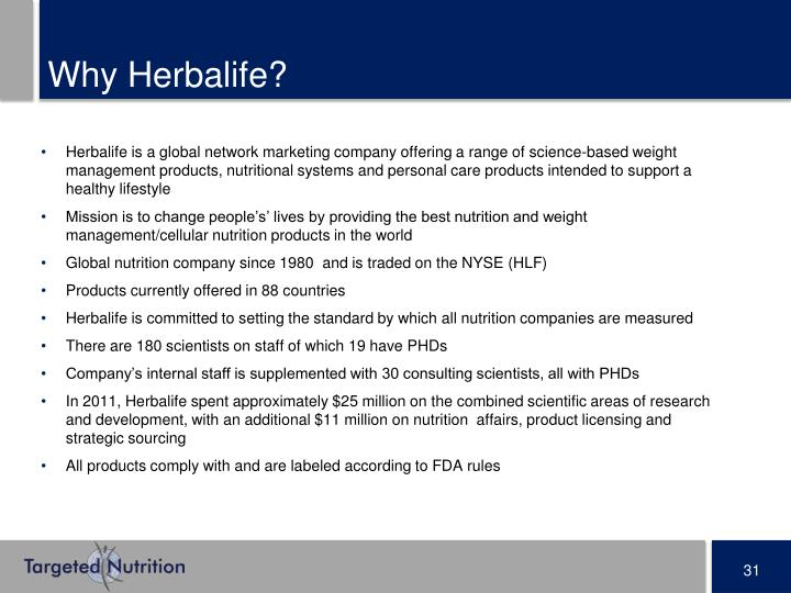 Why Herbalife?