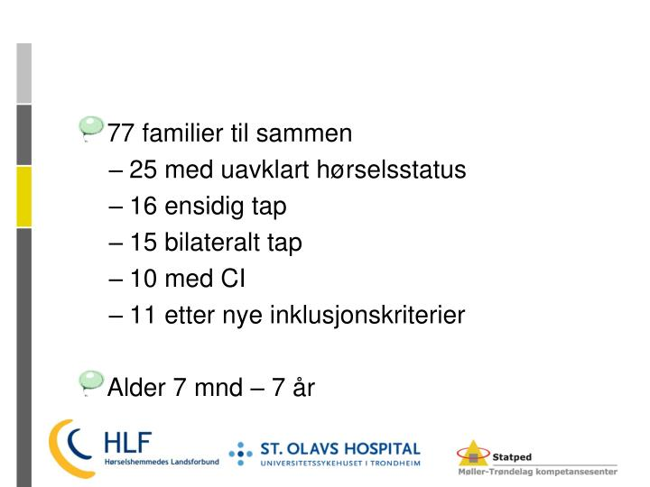 77 familier til sammen