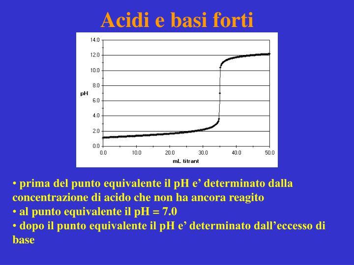 Acidi e basi forti