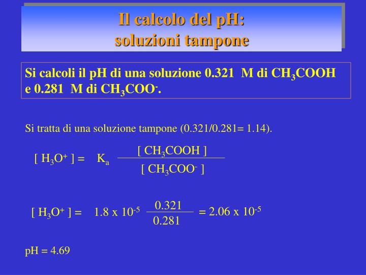 Il calcolo del pH: